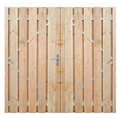 Dubbele poort - douglas - compleet - 180 x 195 ( 2 x 90 )