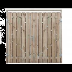 Dubbele poort - grenen - compleet - 200 x 195 ( 2 x 100 )